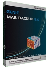 Genie Mail Backup - MSRP Screenshot
