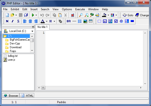 PHP Editor Screenshot 1