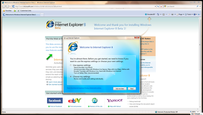 Internet Explorer 8 Screenshot 2