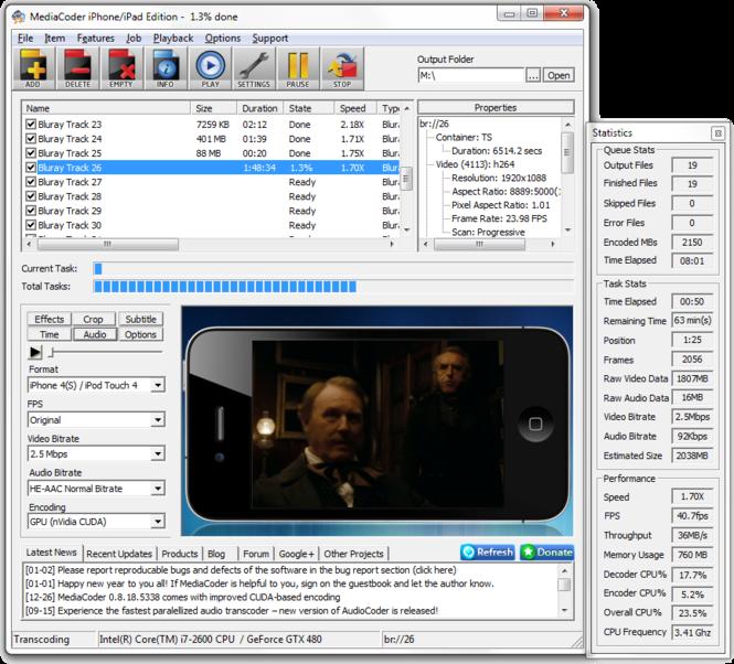 MediaCoder Screenshot 1
