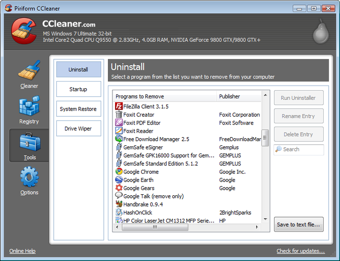 Ccleaner free download for windows xp greek