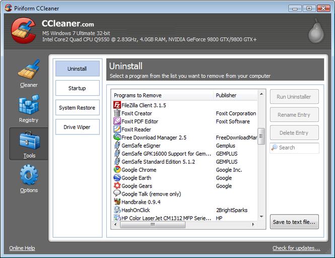 CCleaner Portable Screenshot 3