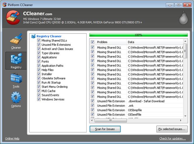 CCleaner Portable Screenshot 2