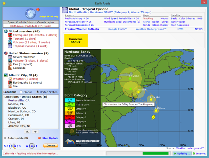Earth Alerts Screenshot 2