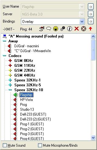 Ventrilo Screenshot 2