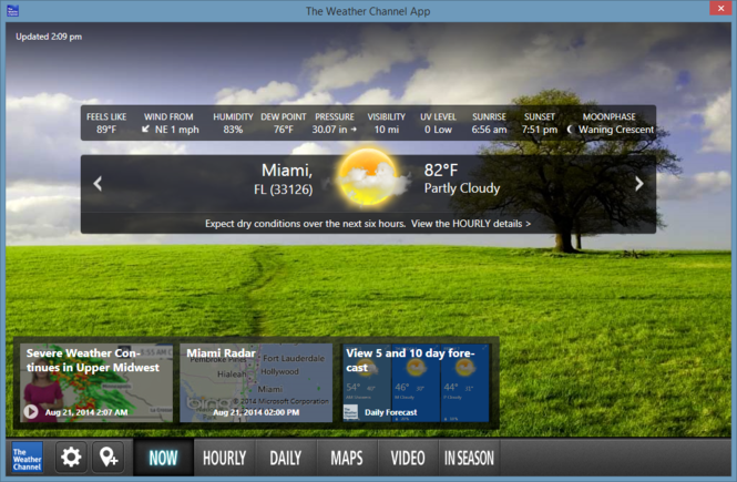 The Weather Channel Desktop Screenshot 3