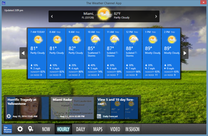 The Weather Channel Desktop Screenshot 4