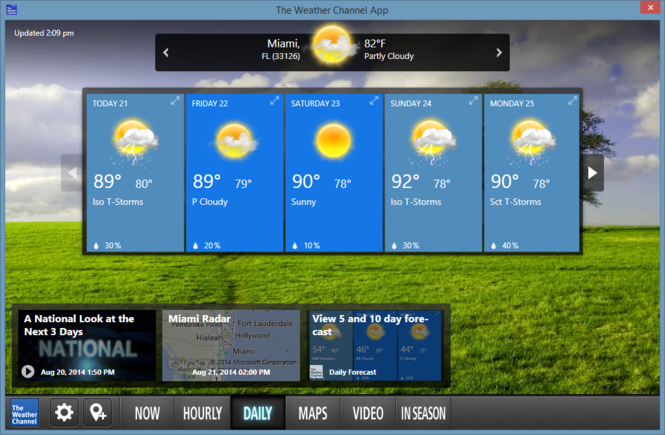 The Weather Channel Desktop Screenshot 5