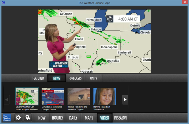 The Weather Channel Desktop Screenshot 7