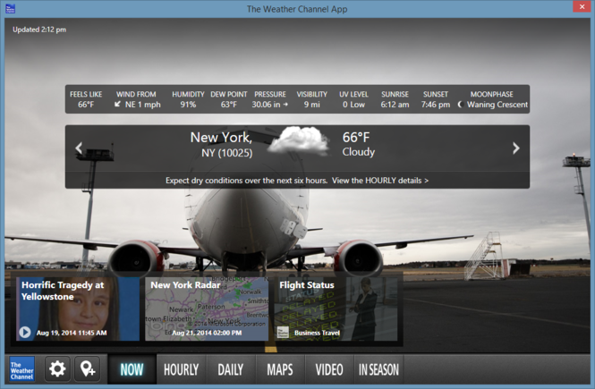 The Weather Channel Desktop Screenshot 9