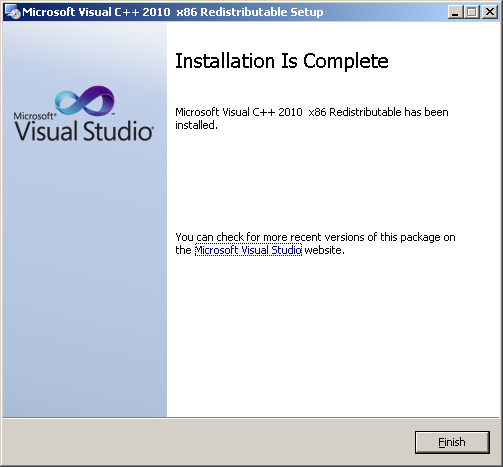 Microsoft Visual C++ 2010 Redistributable Package (x86) Screenshot