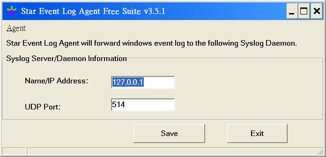 Star Event Log Agent Free Suite Screenshot