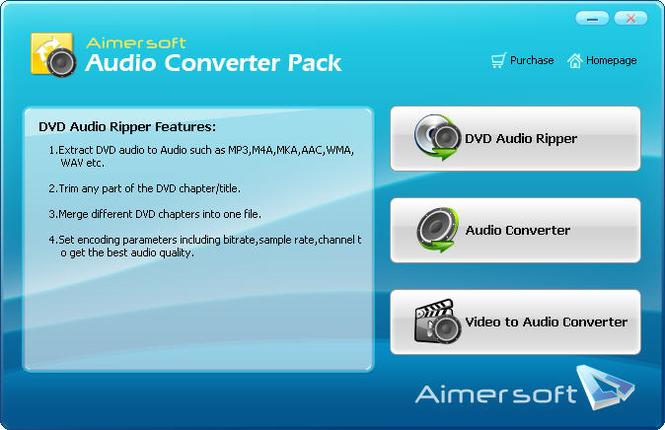 Aimersoft Audio Converter Pack Screenshot 1