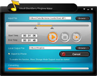 Xilisoft Blackberry Ringtone Maker Screenshot 1