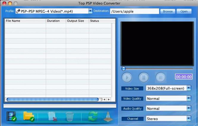 TOP PSP Video Converter for Mac Screenshot 1