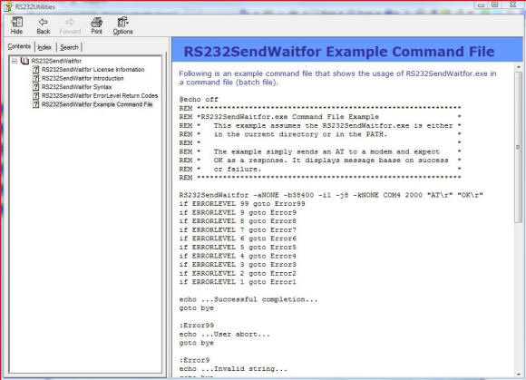 RS232SendWaitfor Screenshot