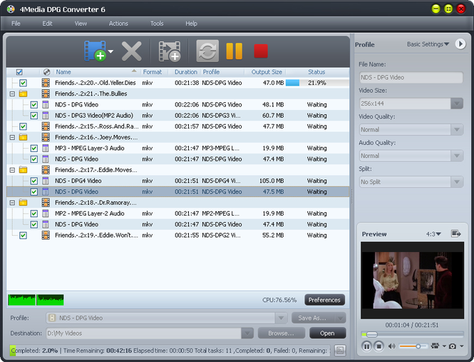 4Media DPG Converter Screenshot