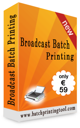 Broadcast Batch Printing Screenshot 2