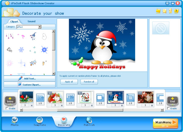 iPixSoft Flash Slideshow Creator Screenshot 1