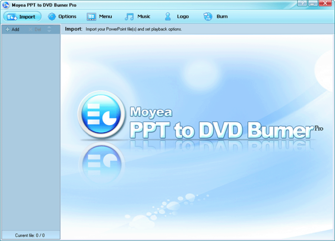Moyea PPT to DVD Burner Pro Screenshot