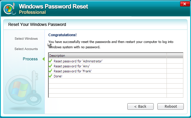 Windows Password Reset Enterprise Screenshot