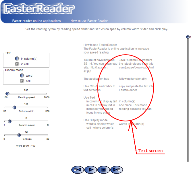 Text Presenter - speed reading Screenshot