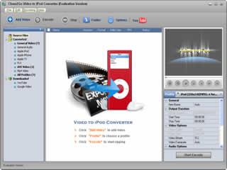 Clone2Go Video to iPod Converter Screenshot