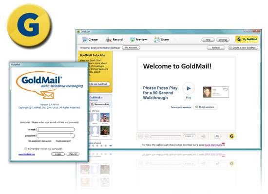GoldMail Screenshot