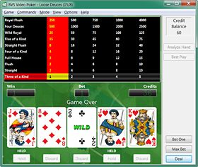 BVS Video Poker Screenshot 2
