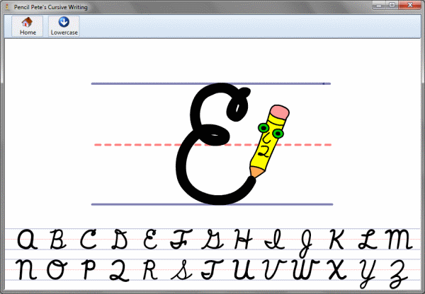 Pencil Pete's Cursive Handwriting Screenshot 1