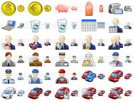 Standard Business Icons Screenshot