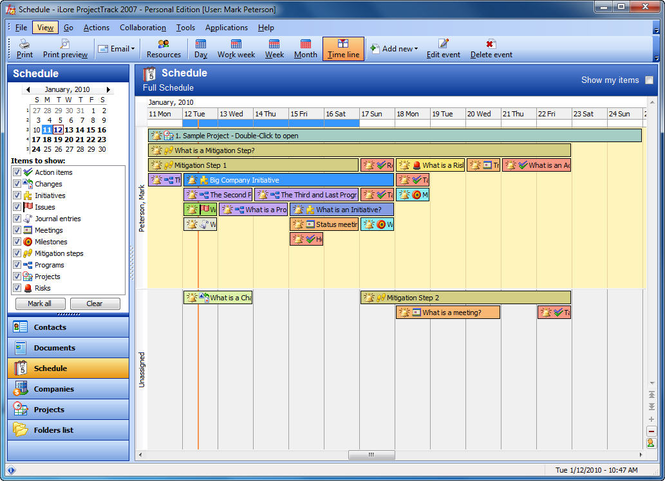 ProjectTrack SQL Server Edition Screenshot 1