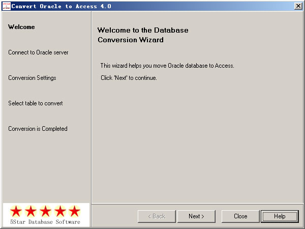 Convert Oracle to Access Screenshot