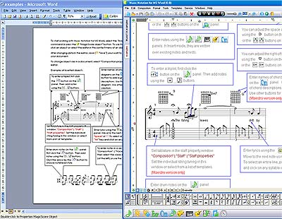 Music Making in MS Word Screenshot