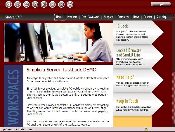 Simpliciti TaskLock Browser Screenshot 1