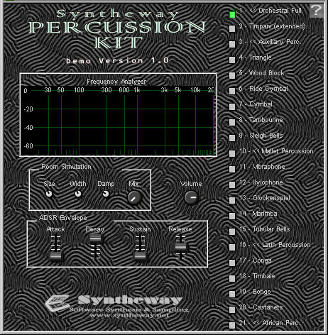 Syntheway Percussion Kit VSTi Screenshot