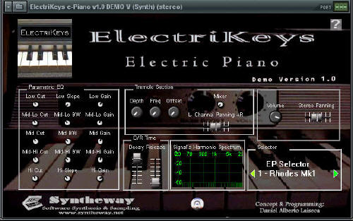 Syntheway ElectriKeys e-Piano VSTi Screenshot