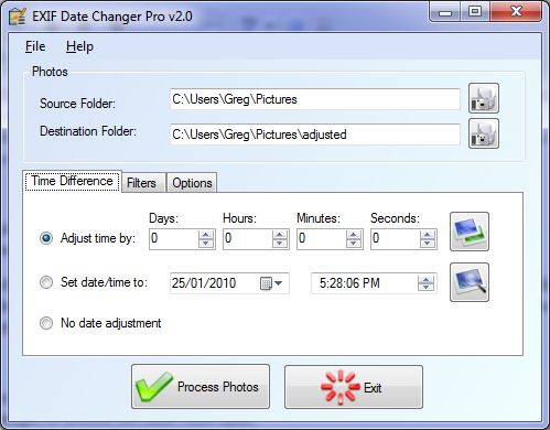 EXIF Date Changer Screenshot 2
