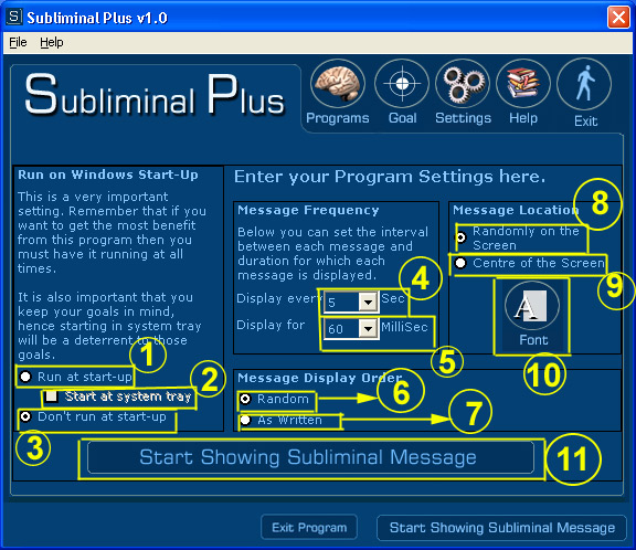 Subliminal Plus Screenshot