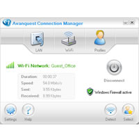 Avanquest Connection Manager - Free Screenshot