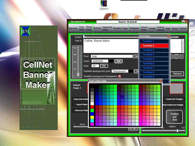 CellNet Banner Maker Screenshot