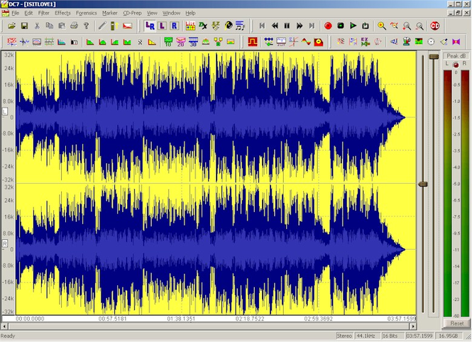 DC SEVEN Audio Workstation Screenshot