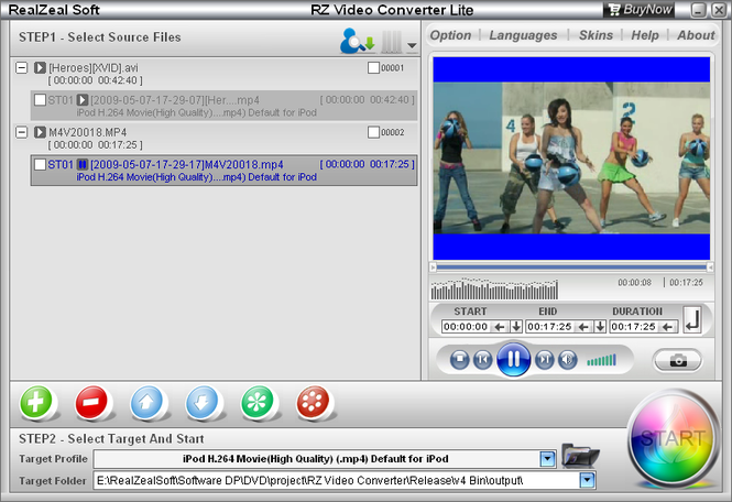 RZ Video Converter Lite Screenshot