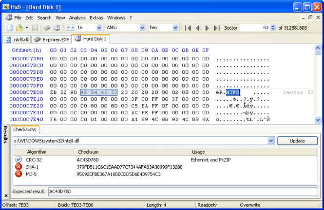 HxD Hex Editor Screenshot