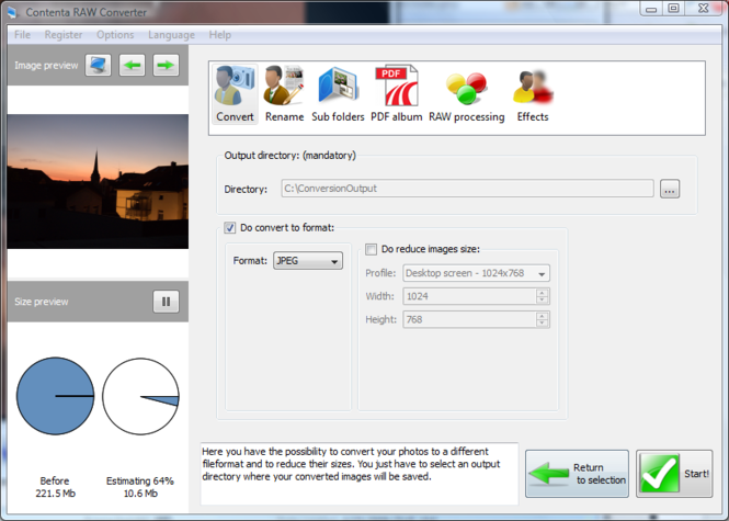 Contenta RAW Converter Screenshot 1