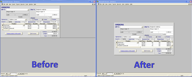 CenterIt for Microsoft Access Screenshot 1