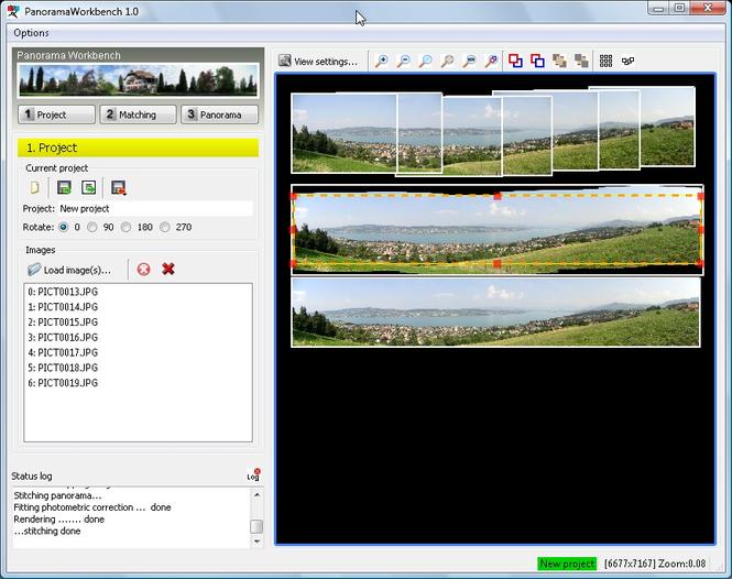 Panorama Workbench Screenshot