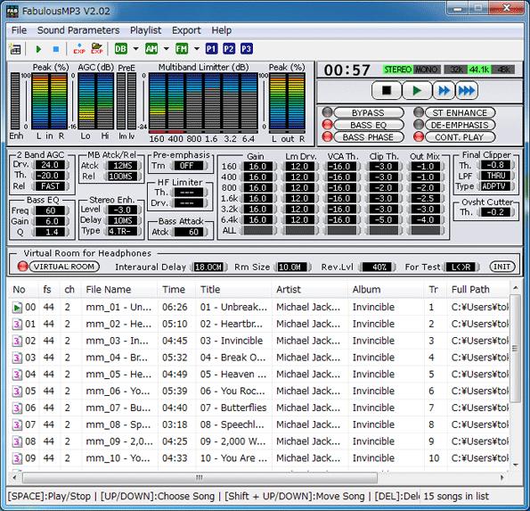 FabulousMP3 Screenshot 1