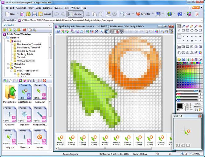 Axialis CursorWorkshop Screenshot