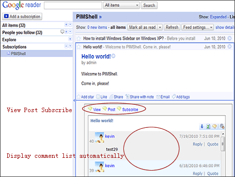 PIMShell Screenshot